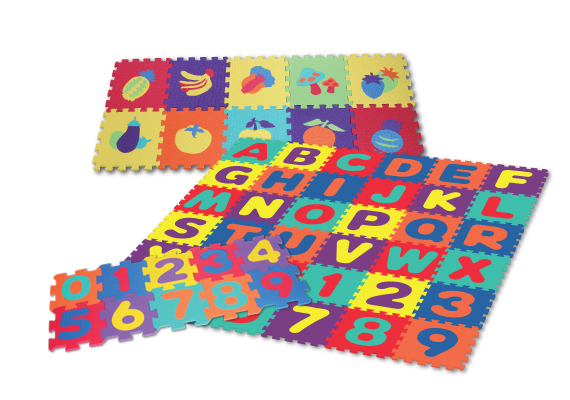 Safe EVA Foam puzzle mats. Ideal for Playroom, Daycare & School. Different designs available. Durable and easy tyo clean.
