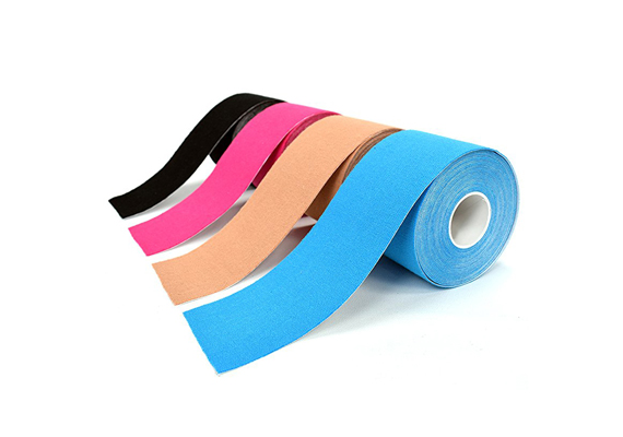 Kinesio Tape (KT) for Athletic Sports. Premium. Pain relief, provides muscle support. Water resistant. Breathable Cotton. 1 roll pack, uncut 2 inches x 16.4 Ft entire Roll-Bulk.